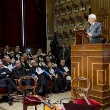 Presidente Mattarella all'innagurazione del 796° anno accademico